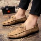 懶人鞋 快手紅人男鞋休閒鞋精神社會小夥懶人百搭個性韓版小皮鞋潮鞋 【快速出貨】