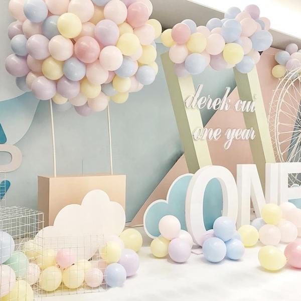 派對氣球ins馬卡龍氣球糖果色創意生日派對佈置拱門氣球裝飾結婚禮用品 台北日光
