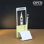 OPUS 歐式鐵藝便條筆座/書寫辦公用品(倫敦大笨鐘_白)