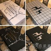 現代簡約餐桌布客廳茶幾布絨面圓桌布雪尼爾長方形書桌布防水免燙   小時光生活館