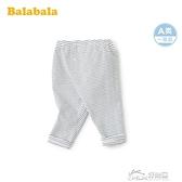 兒童褲子嬰兒長褲女童打底褲條紋褲2020新款百搭休閒薄款 好樂匯