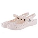 涼鞋女款涼鞋塑料鏤空柔軟沙灘鞋平底護士坡...
