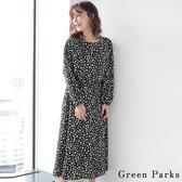 ❖ Winter ❖ 【SET ITEM】點點寬袖圓領上衣+打褶喇叭長裙 - Green Parks