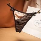 L'amour奢華--女 丁字褲-日系撞色蕾絲丁字褲女細帶性感絲滑無痕少女內褲【LET_2213】