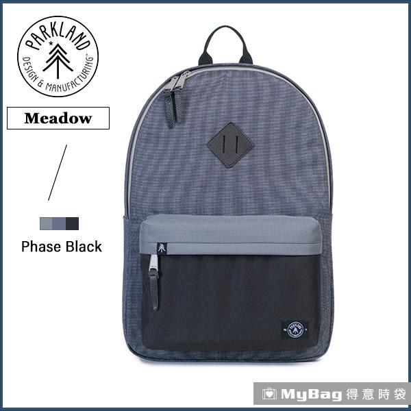 Parkland 後背包  黑灰  電腦後背包  多功能休閒背包 Meadow-029  MyBag得意時袋