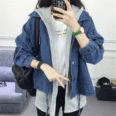 學院風初中學生牛仔外套女2019秋冬新款韓版少女寬鬆馬甲兩件套潮