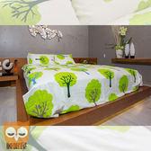 清新果園-雙面設計精梳棉薄件床包四件組