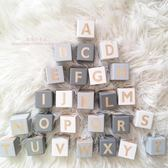 積木 北歐26個英文字母實木方塊個性積木寶寶裝飾品兒童房 艾美時尚衣櫥 YYS