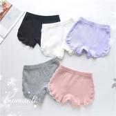 [大童可]大童少女可-側邊蕾絲花邊棉質防走光安全褲短褲-5色(P12124)【水娃娃時尚童裝】