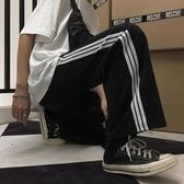 運動褲女學生ins潮韓版原宿風寬鬆直筒闊腿褲休閒褲長褲 麥琪精品屋