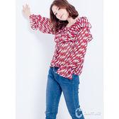 CANTWO復古普普風荷葉雪紡上衣(共二色)~春夏新品登場