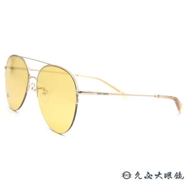 VEDI VERO 墨鏡 VE862 YE (金) 雙槓 飛官 太陽眼鏡 久必大眼鏡
