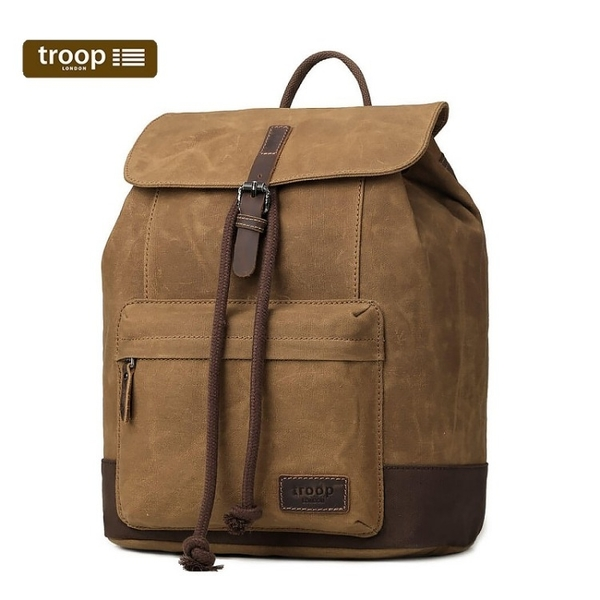【TROOP】傳統簡約HERITAGE雙肩包/TRP0442CAM(駝色)