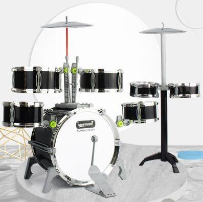 爵士鼓男女孩初學者敲打鼓樂器超大號仿真架子鼓玩具兒童1-3-6歲lx 玩趣3C