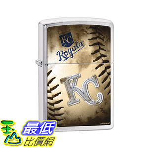 [美國直購] Zippo MLB Kansas City Royals Brushed Chrome Lighter 打火機