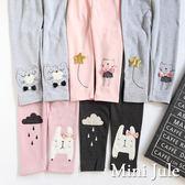 Mini Jule女童 內搭褲  點點貓咪/貓咪星星/雨滴兔子長褲(共5款)