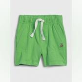 Gap男嬰棉質裝飾繩鬆緊腰休閒短褲547382-綠色