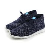 native APOLLO CHUKKA EMBROIDERED 休閒鞋 軟 舒適 深藍色 圖案 男鞋 女鞋 21100506-8169 no438