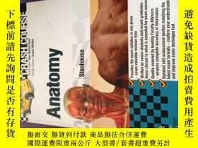 二手書博民逛書店英文原版Anatomy罕見Crash Course 4th edition解剖學速成課程第4版Y478501