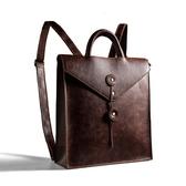 後背包-皮革文件造型大容量商務男女雙肩包2色73in3【時尚巴黎】