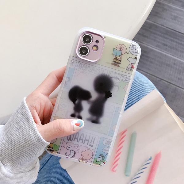 剪影史努比查理布朗 適用 iPhone12Pro 11 Max Mini Xr X Xs 7 8 plus 蘋果手機殼