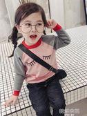 女童毛衣套頭2018秋冬新款童裝寶寶卡通針織衫春秋兒童長袖打底衫