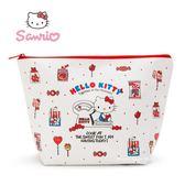 日本限定 三麗鷗 HELLO KITTY 凱蒂貓 糖果甜點版  收納包 / 化妝包 L size