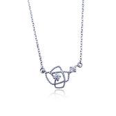 KISS KISS花型簍空純銀項鍊