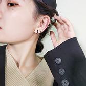 耳環 正韓氣質簡約清新無耳洞精靈森系小圓環 耳夾 耳環 耳釘 耳圈 耳骨夾女