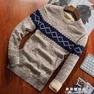 秋冬季男士毛衣加絨加厚潮流厚款ins針織衫打底線衣 保暖上衣男裝【果果新品】