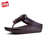 熱銷單一價!【FitFlop】經典款 立體珠飾造型夾腳涼鞋深梅色