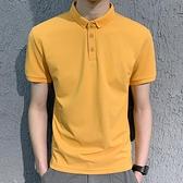 純棉polo男短袖夏季男士修身商務保羅上衣潮流翻領衫T恤男裝體恤 有緣生活館