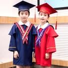 兒童博士服幼兒園學士服拍照衣服畢業袍博士帽小學畢業照服裝禮服 蘿莉新品