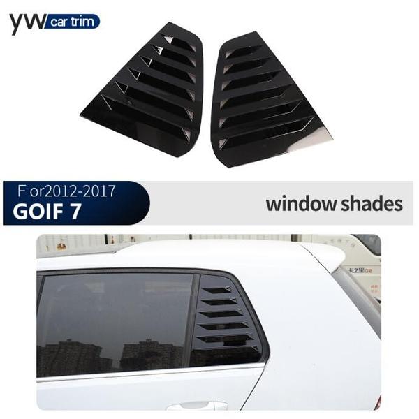 適用于高爾夫7改裝Gpif 7後三角百葉窗裝飾外側出風口貼(38*28/777-10827)