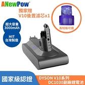 【再贈濾網X1】ANewPow Dyson V10系列 副廠電池 SV12 系列副廠鋰電池 一年保固