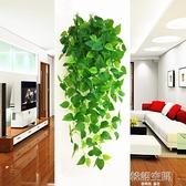 仿真綠蘿長藤假花壁掛綠植吊蘭裝飾植物吊花掛墻上塑料假垂吊盆栽