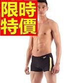 四角泳褲-溫泉彈性競賽設計男平口褲56d22[時尚巴黎]