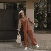 Queen Shop【04050646】縮腰調節設計素色吊帶褲 四色售*現+預*