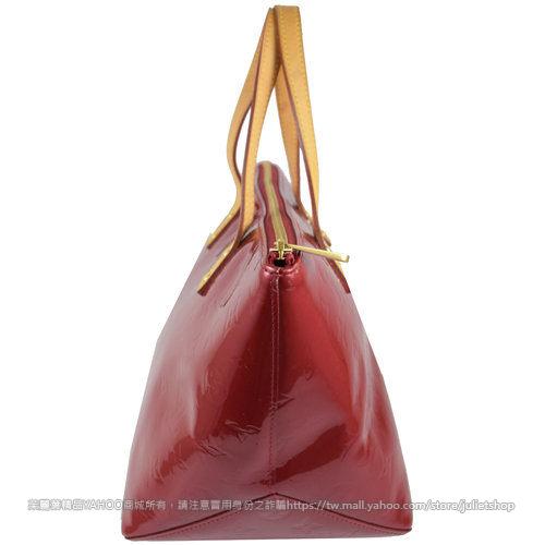 茱麗葉精品 二手名牌【9成新】Louis Vuitton LV M93583 VERNIS BELLEVUE PM 漆皮亮面手提包.紅(小)