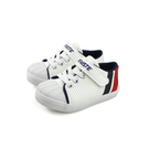 Private 休閒鞋 魔鬼氈 白/紅藍條紋 小童 童鞋 P-750-02 no251
