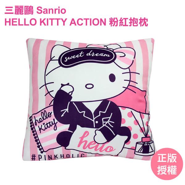 HELLO KITTY粉紅抱枕 沙發枕 抱枕 靠枕 禮物 KITTY