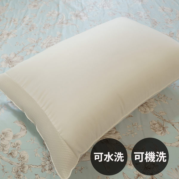 【水洗枕頭】60cmX42cm台灣製 可水洗機洗、超透氣不悶熱、支撐性佳 棉床本舖 枕頭