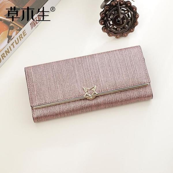 新款韓版ins長款手拿錢包女時尚大容量錢夾可放手機皮夾手包 至簡元素