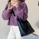 手提包 包包女新款潮韓版百搭單肩包大容量簡約托特包學生手提斜挎包 快速出貨