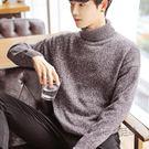 韓版毛衣男半高領翻領可立領長袖男毛衫日系潮流港風衣服  『魔法鞋櫃』