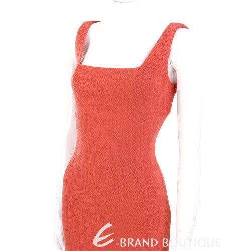 GBR 橘紅色無袖毛呢洋裝 0510823-17