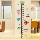 卡通超級飛俠3d立體牆貼寶寶測量身高貼可移除貼紙兒童房牆面裝飾 喵可可館