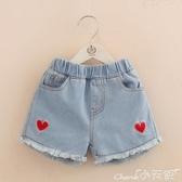 女童短褲寶寶刺繡牛仔短褲2020夏裝韓版新款女童童裝兒童熱褲子 小天使