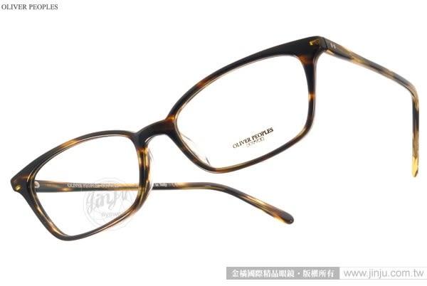 OLIVER PEOPLES 光學眼鏡 SCARLA 1003 (流線棕) 極致工藝百搭細框款 # 金橘眼鏡