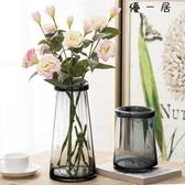 琉光玻璃花瓶透明水培花瓶客廳復古 優一居